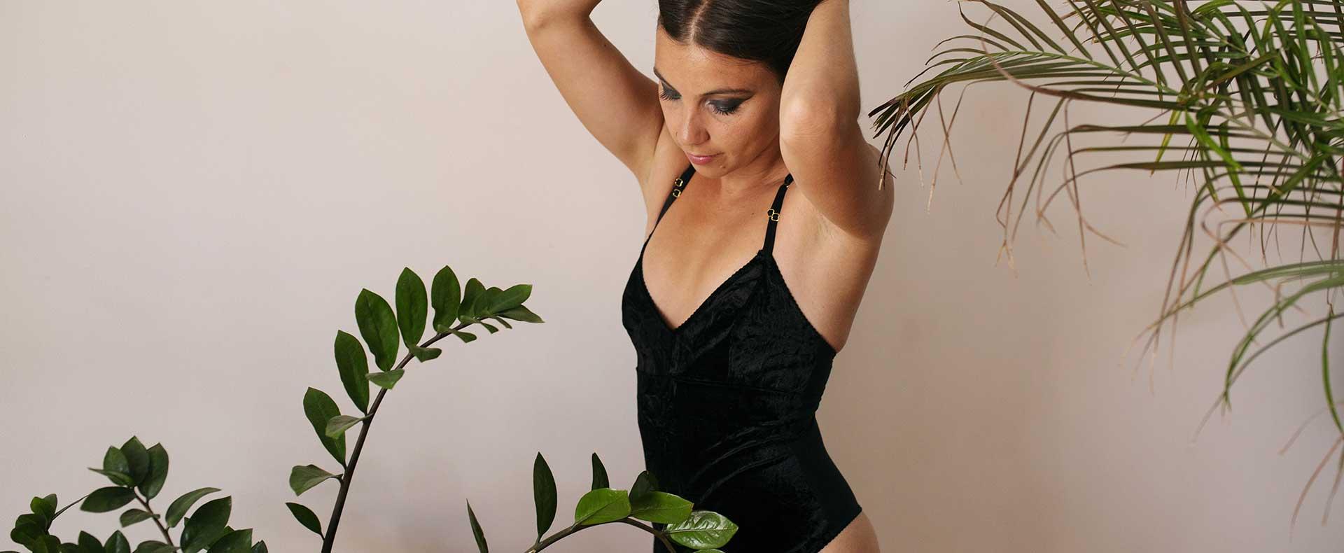 Femme-body-velours-noir